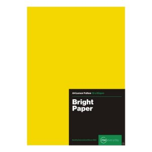Bright Lemon Yellow Paper