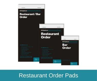 Restaurant Order Pads
