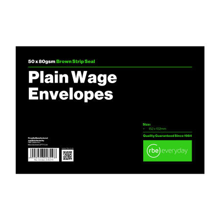 Plain Wage Envelopes