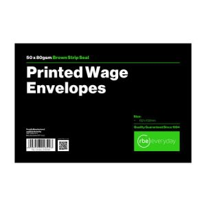 Printed Wage Envelopes
