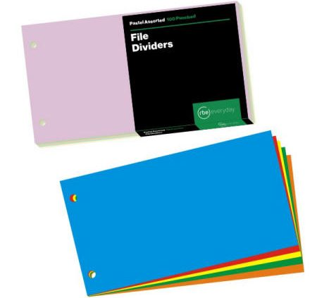 File Dividers - Categories