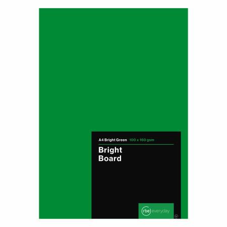 Bright Green Board A4