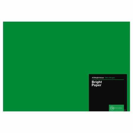 Bright Green Paper A3