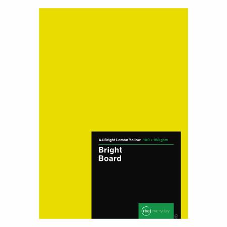 Bright Lemon Yellow Board A4