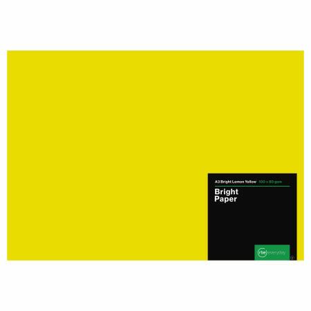 Bright Lemon Yellow Paper A3