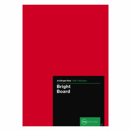 Bright Red Board A4