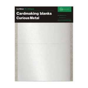 Ice Silver Card Making Blanks