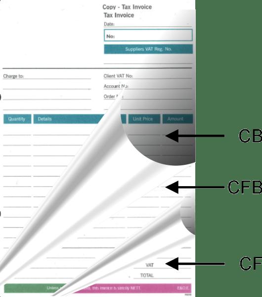 NCR Sheets - CB, CF & CFB