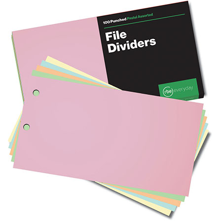 Pastel Assorted File Dividers
