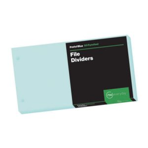 Pastel Blue File Dividers