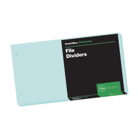 Pastel Blue File Dividers