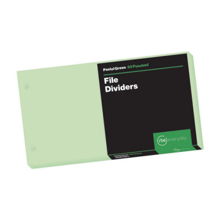 Pastel Green File Dividers