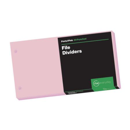 Pastel Pink File Dividers