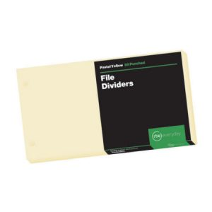 Pastel Yellow File Dividers