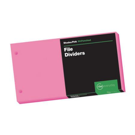 Shades Pink File Dividers