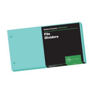 Shades Turquoise File Dividers