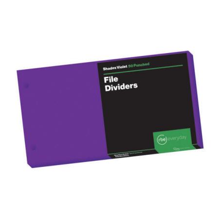 Shades Violet File Dividers