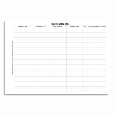 Security Training Register