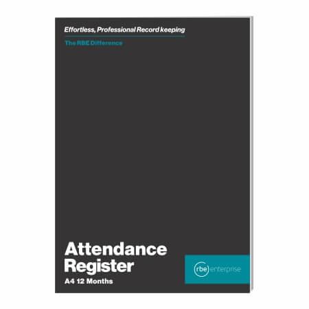 A4 12 Month Attendance Register