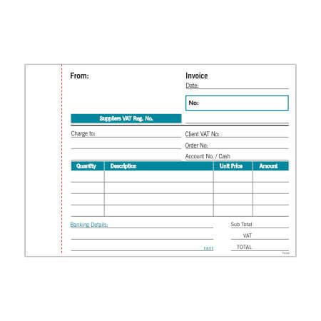 NCR A6 Invoice Pad Duplicate