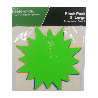 Extra Large Flash Packs - Pack of 12