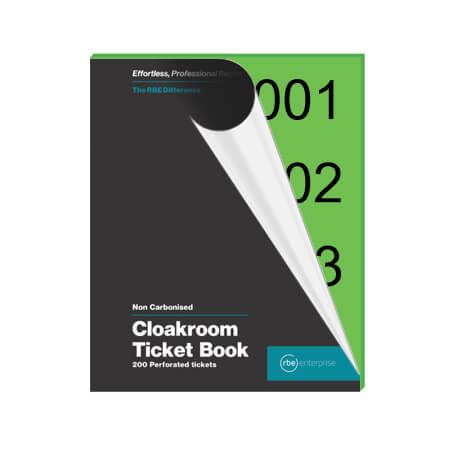 Green Cloakroom Tickets - Enterprise Range