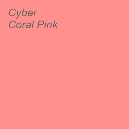 Cyber Coral Pink Colour Swatch