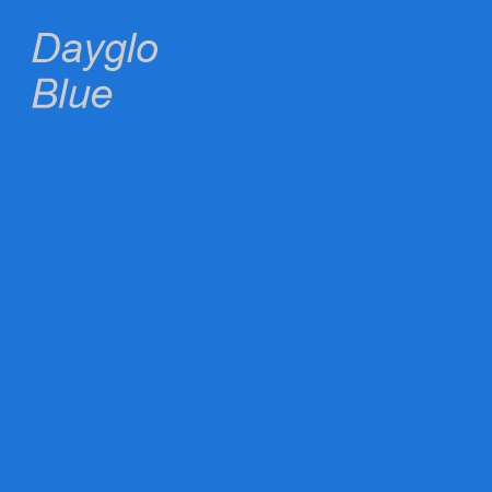 Dayglo Blue Colour Swatch