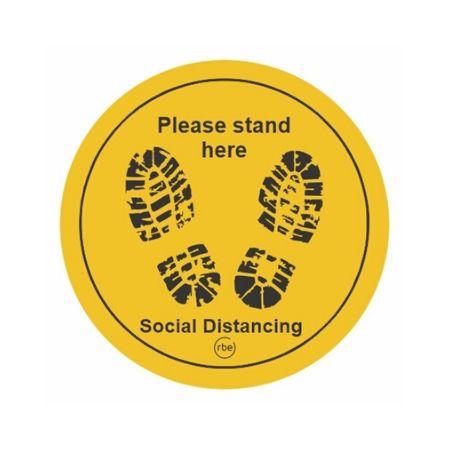 Saffron Social Distancing Floor Stickers