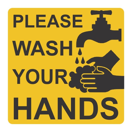 Please Wash Your Hands Wall Sticker