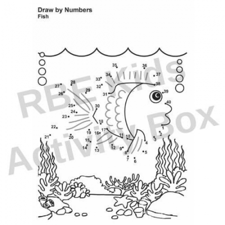 Kids Activity Pad - Draw by Numbers - Fish