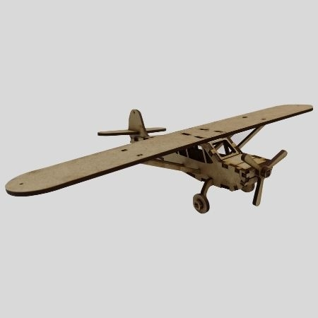 Laser Cut - 3D Aeroplane Model - Piper Cub