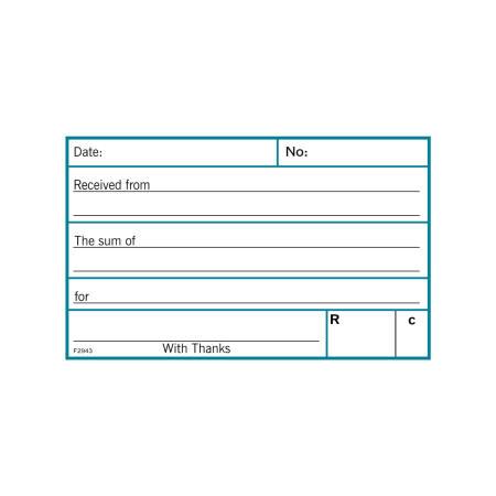 Receipt Book Forms Cloth Bound
