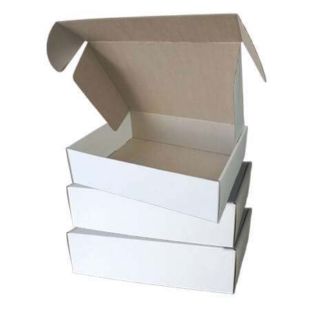 White & Kraft Boxes - 3 Pack