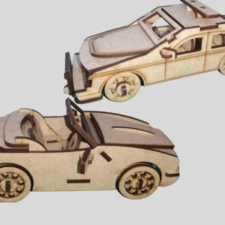 3D Laser Cut Car Models