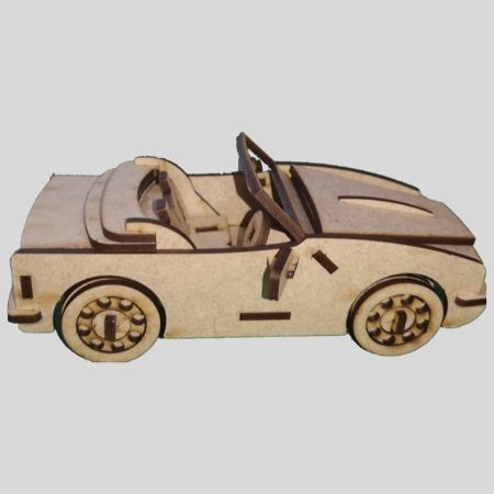 Laser Cut - 3D Car Model - Convertible Sports Car