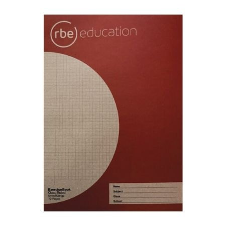 Quad Ruled 5mm 72 Page A4 Exercise Book