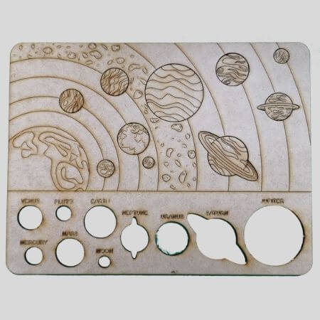 Solar System Wooden Puzzle