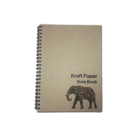 A5 Kraft Lined Spiral Bound Notebook - Cover