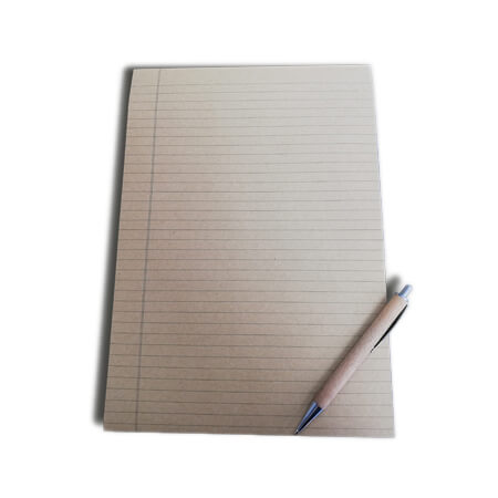A4 Kraft Lined Notepad - Inside