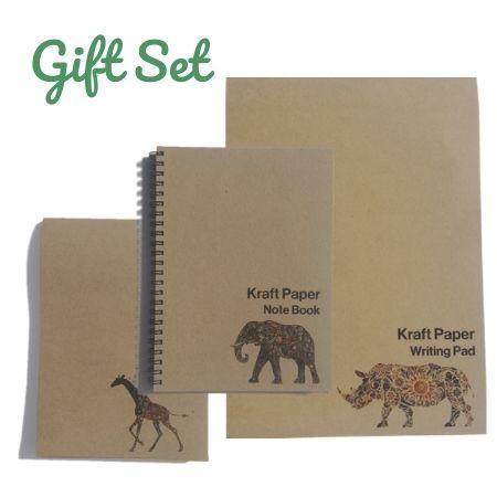 Kraft Notebook & Pad Gift Set