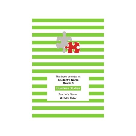 Horizontal Stripe - Personalised Exercise Book Cover