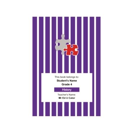 Vertical Stripe - Personalised Exercise Book Cover