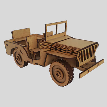 Willys Military Jeep - Front View
