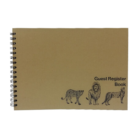 Guest Register Book - Wildlife