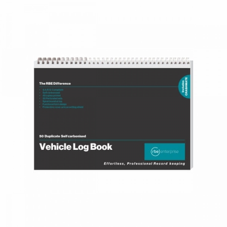 A5 Motor Vehicle Log Book with CRASHMATE