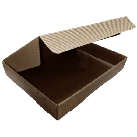 Fluted Kraft A4 Tuck In Lid Gift Box