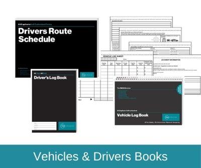 Vehicle & Drivers Books & Pads