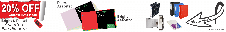 Bright & Assorted File Divider Promotion